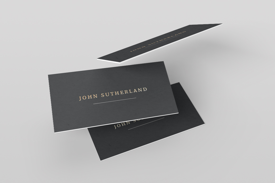 foil business card
