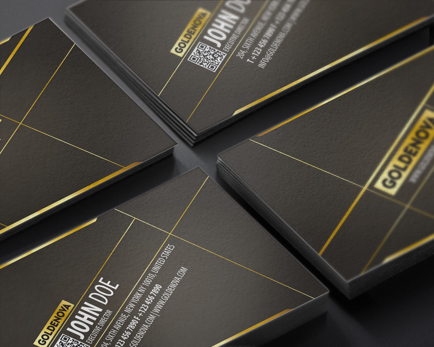 golden template business card