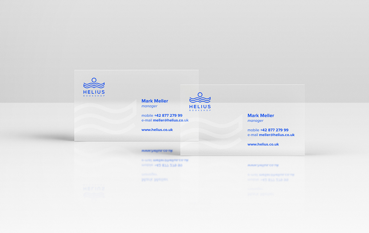 Helius bookshop business cards inspiration cardfaves transparent business card reheart Image collections