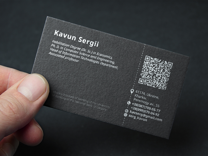 QR Code business cards inspiration - CardFaves