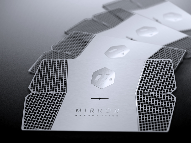 Mirror Aeronautics business card inspiration - CardFaves