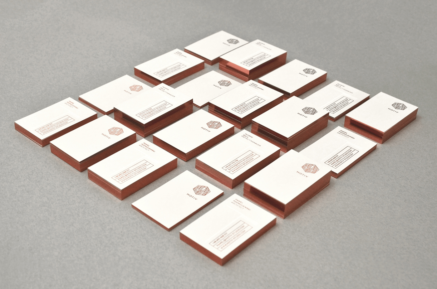 copper business card