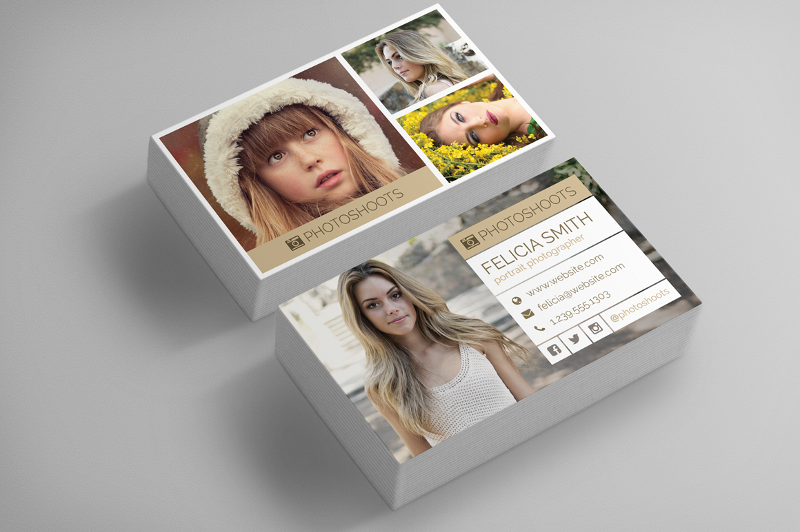 Photographer Business Card Template Inspiration Cardfaves