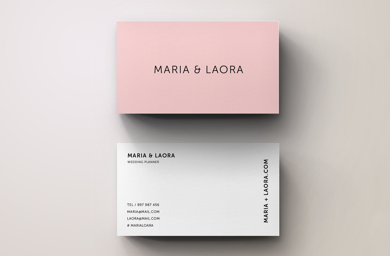 Pink modern business card template inspiration cardfaves wajeb Images