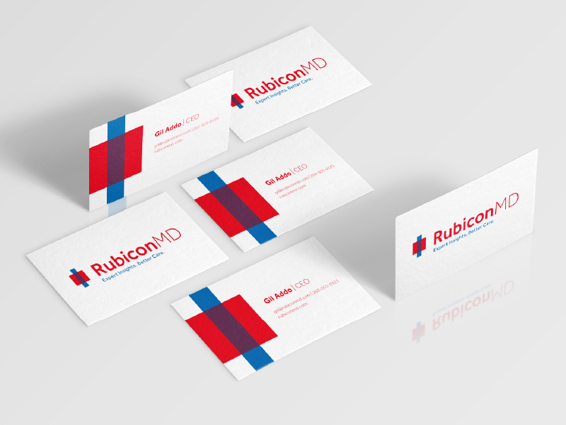 RubiconMD business cards inspiration - CardFaves