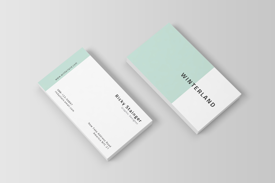 Simple business card template inspiration cardfaves wajeb Image collections