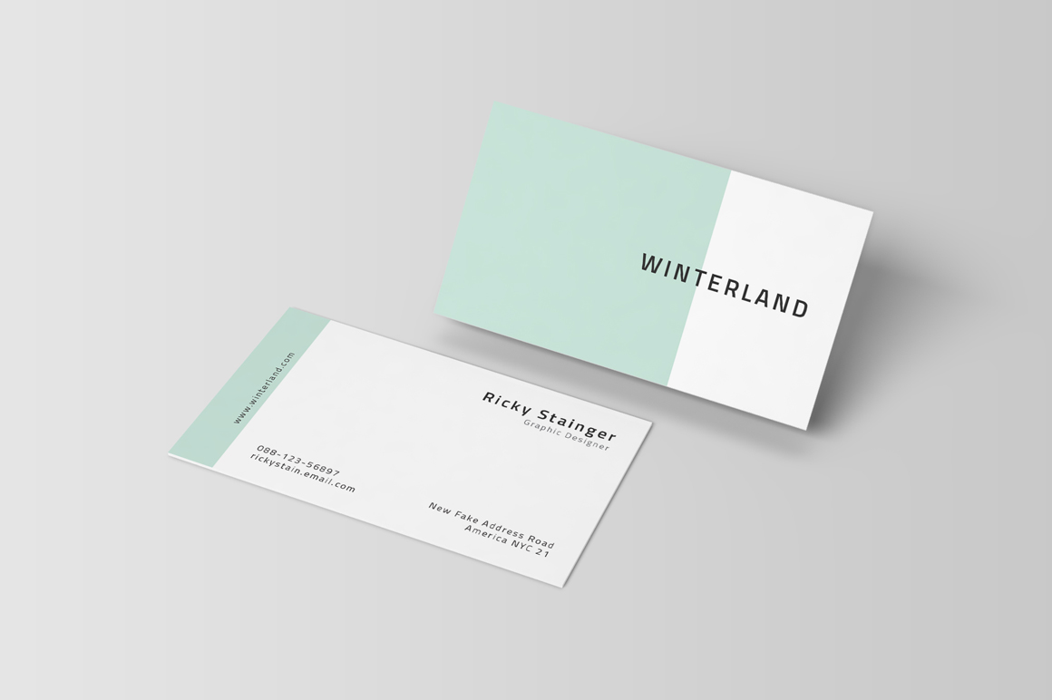 minimal business card psd template business card template clean