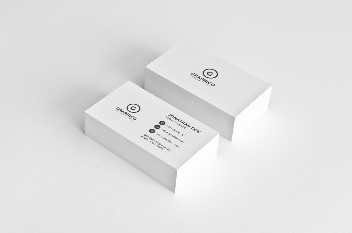 Simple corporate business card template inspiration - CardFaves
