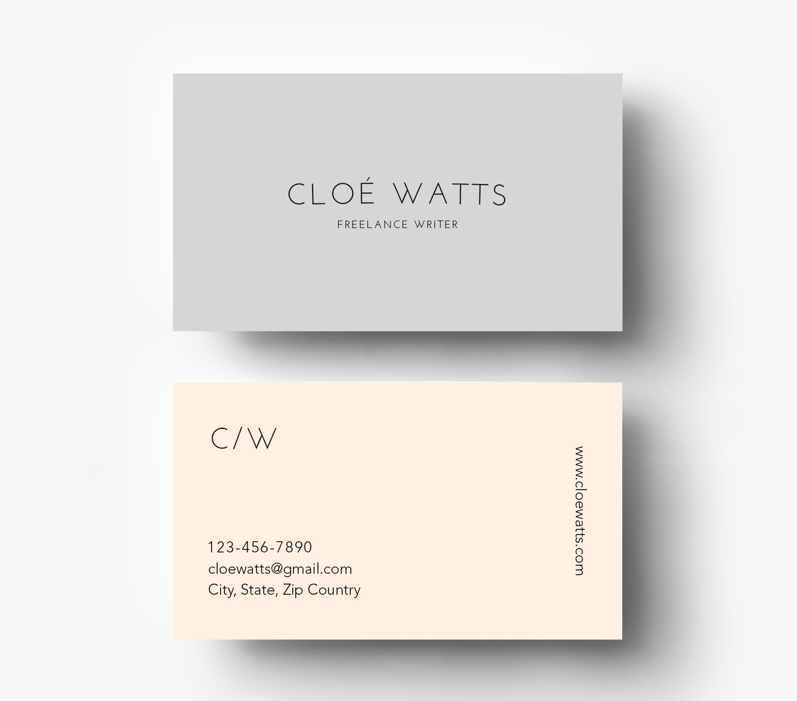 Simple modern business card template inspiration cardfaves wajeb Gallery