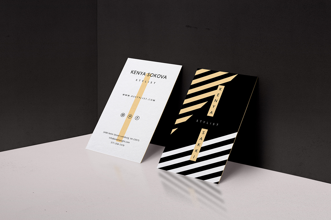 Stylist business card template inspiration - CardFaves