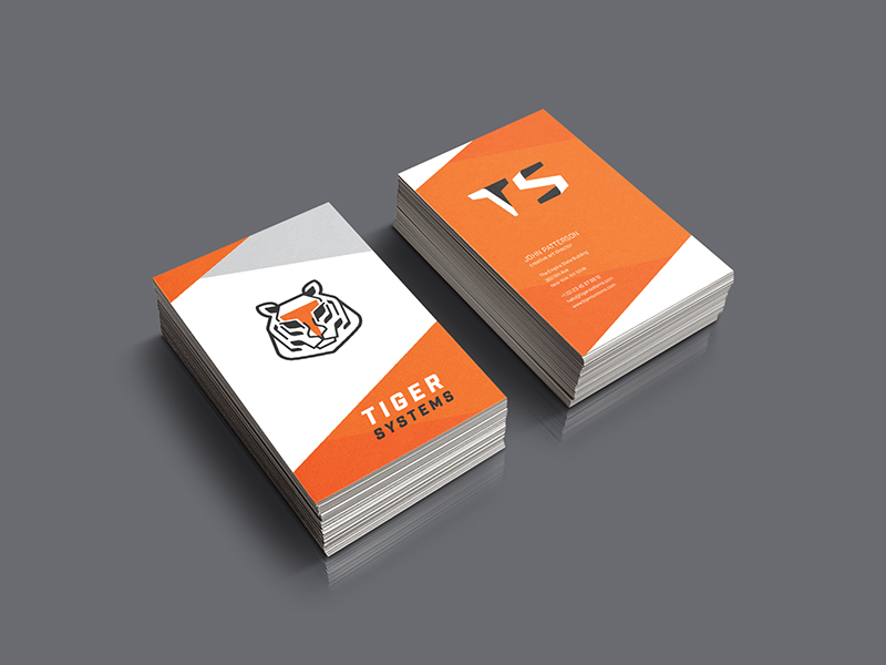 orange business card