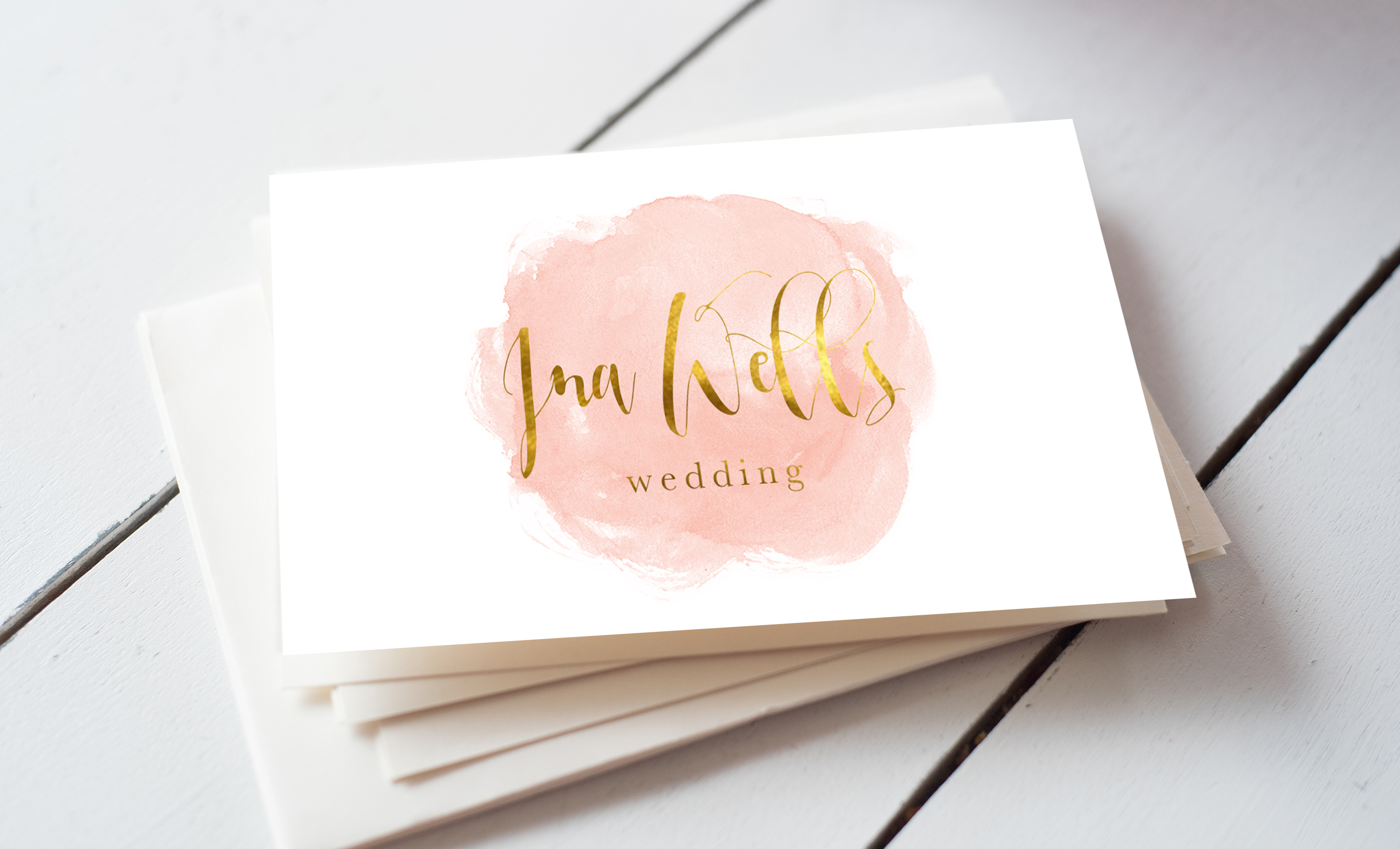 Watercolour wedding business card template inspiration cardfaves flashek Images