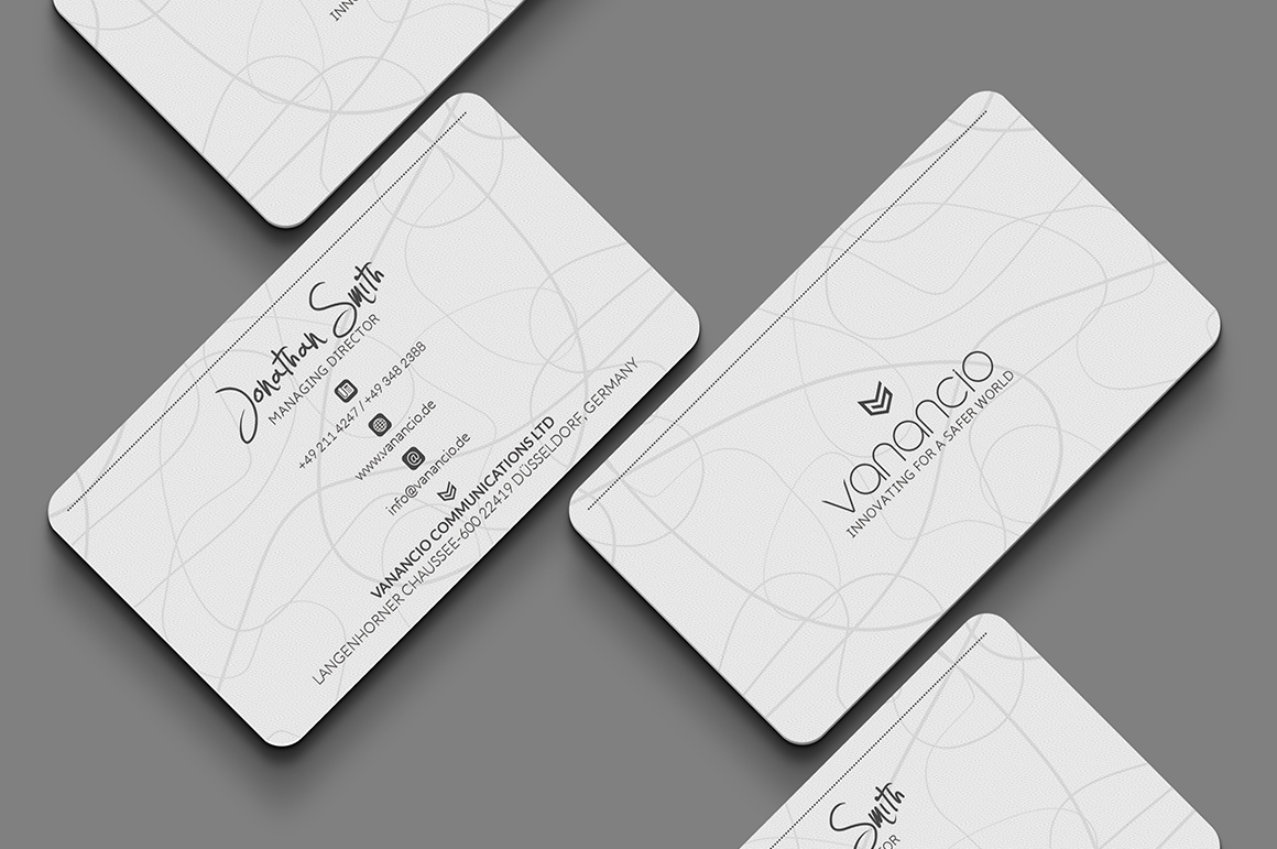 White Business Card Template Inspiration Cardfaves