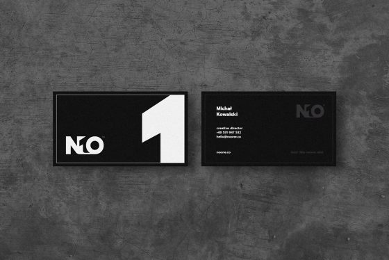 NOONE business cards