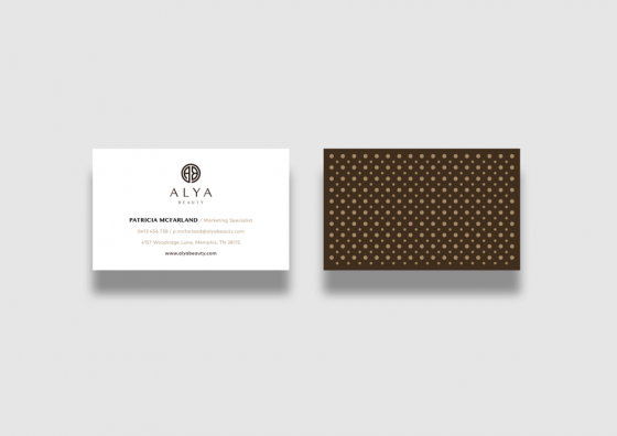 Alya Beauty business card