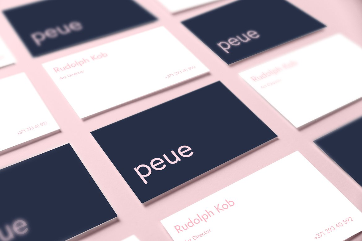 Peue Realsitic Business Card Mockup inspiration - CardFaves