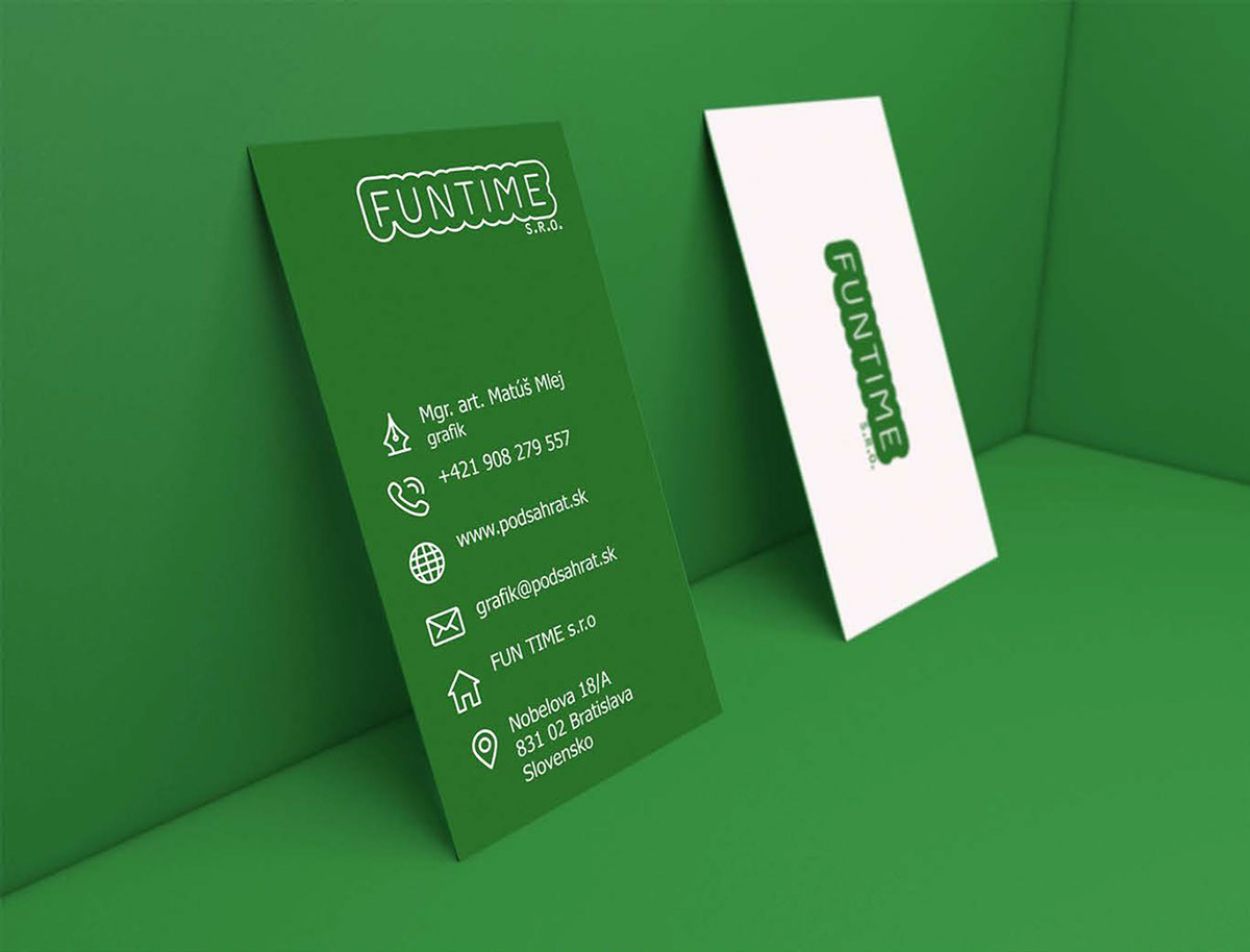 FUN TIME business card design