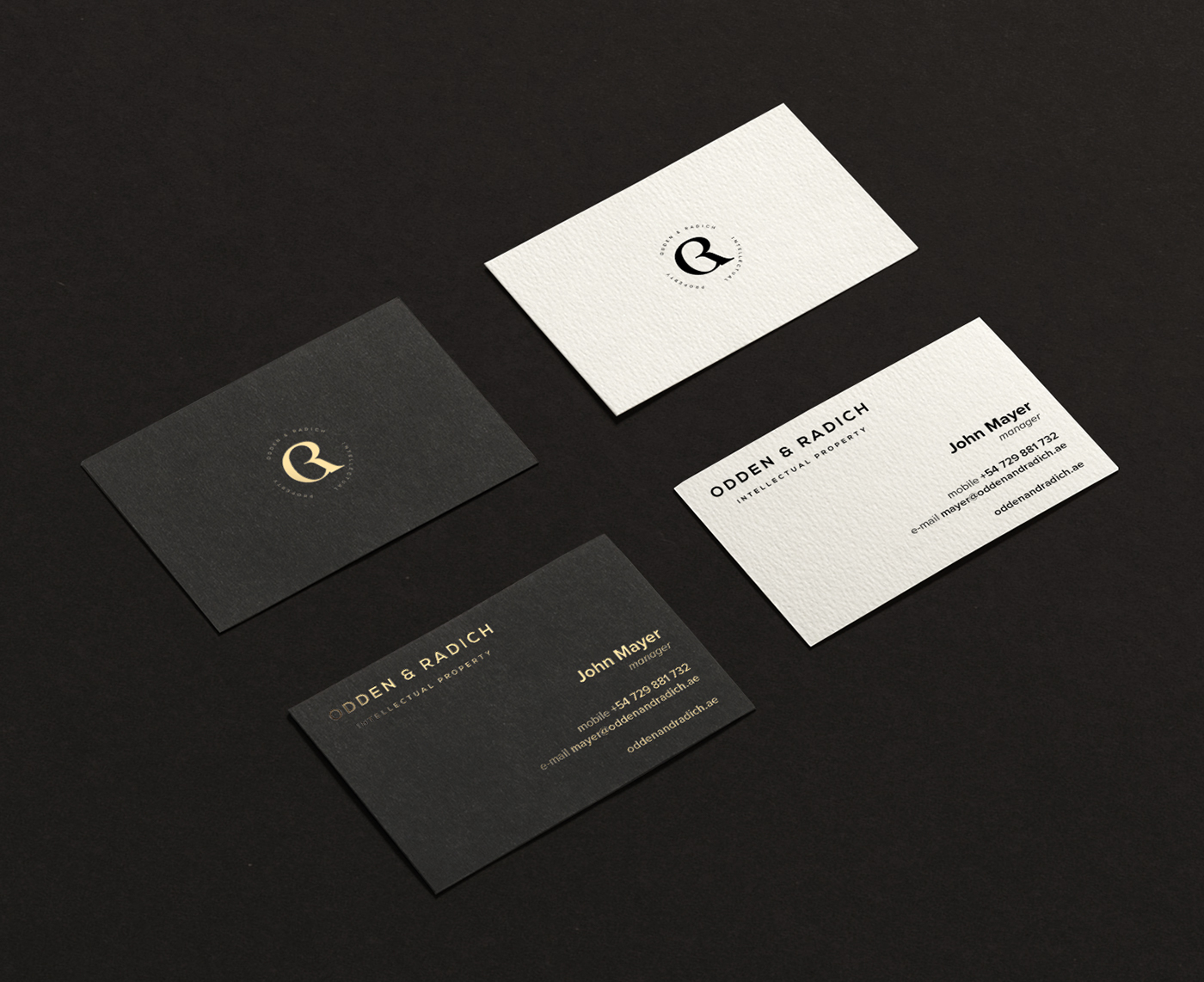 Odden & Radich business cards