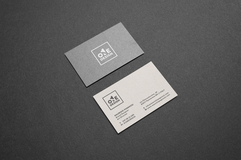 one design business card inspiration cardfaves - Business Card Design Inspiration