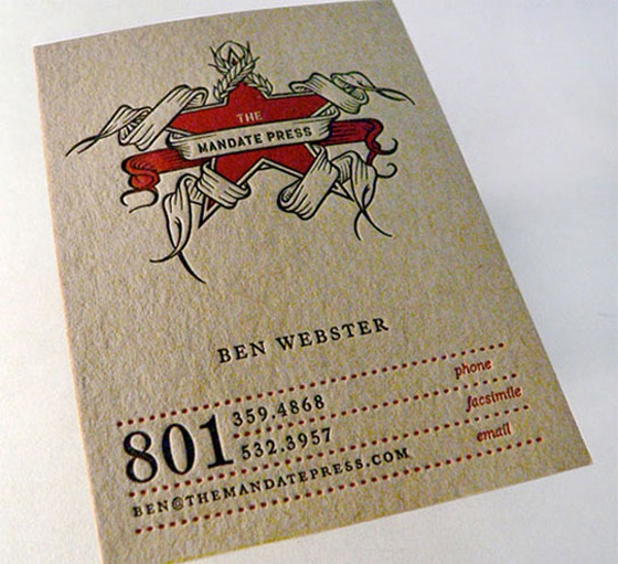 press business card