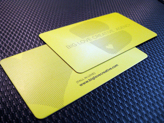 dotted business card