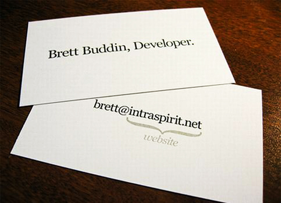 minimal and clean business card inspiration cardfaves