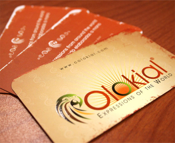 rounded corners business card