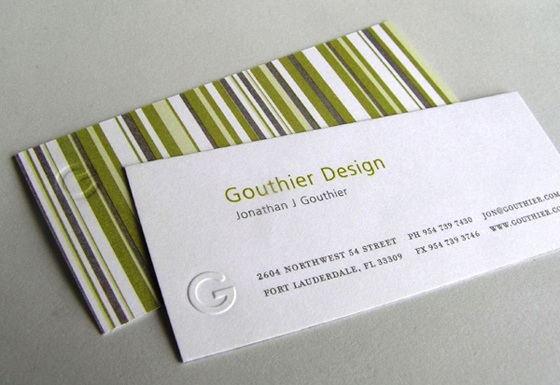 gouthier business card