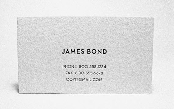 james bond business card