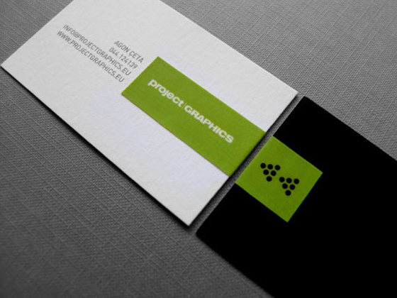 project graphics business card