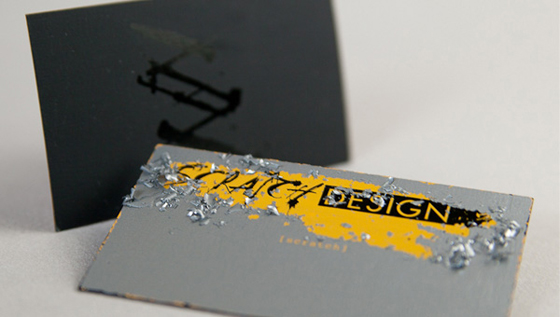scratch business card