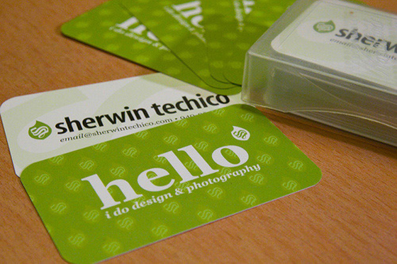Sherwin Techico photography business card