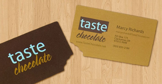 Taste chocolate business card inspiration cardfaves chocolate business card colourmoves