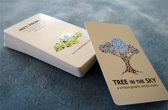 Tree in the sky business card inspiration cardfaves shiny business card colourmoves