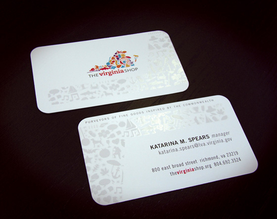 virginia business card