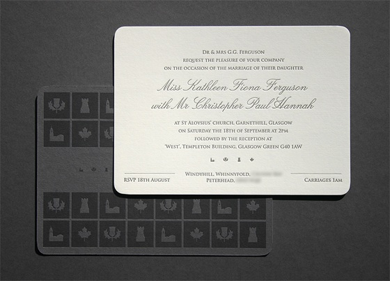 wedding invite business card